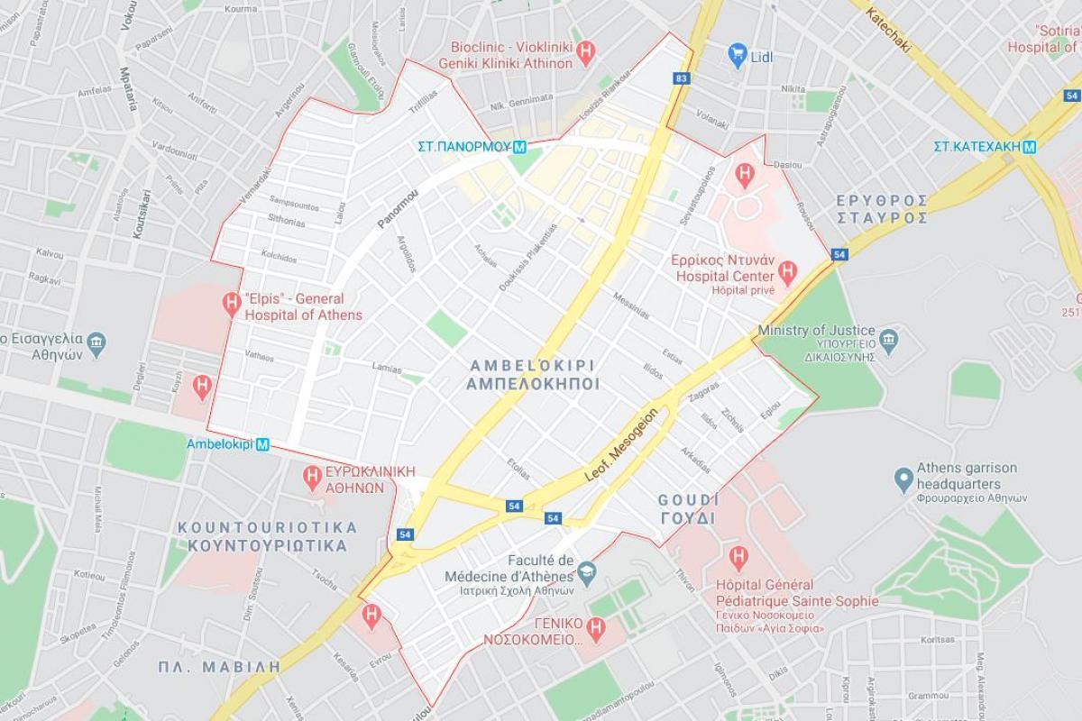 Ambelokipi Athens Map Map Of Ambelokipi Athens Greece