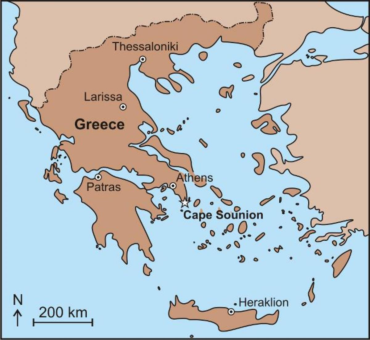 Sounion greece map   Map of sounion greece (Greece)