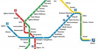 Subway Map Athens.Athens Map Maps Athens Greece